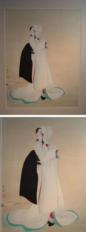 鏑木清方: Bijin in White Kimono - Japanese Art Open Database