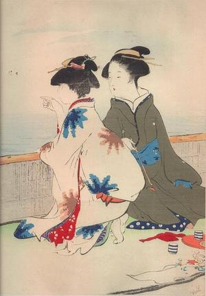 鏑木清方: Gathering Shelfish — 汐干狩 - Japanese Art Open Database