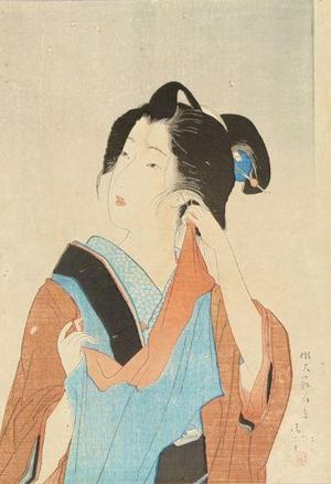 鏑木清方: Light Snowfall - Japanese Art Open Database
