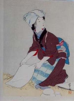 鏑木清方: Mochi Mushiro — 餅むしろ - Japanese Art Open Database
