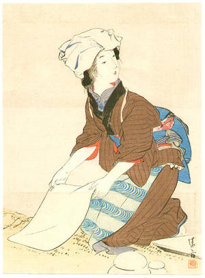 鏑木清方: Mochi Mushiro — 餅むしろ - Japanese Art Open Database