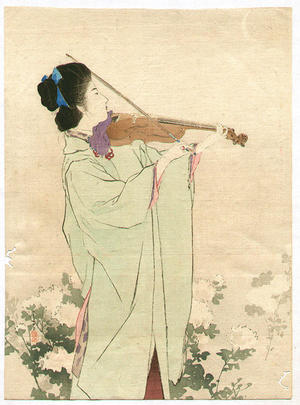 鏑木清方: Morning Dew — あさ露 - Japanese Art Open Database
