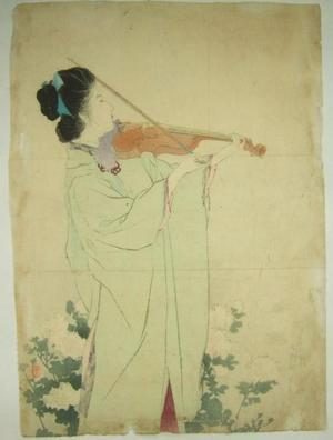 鏑木清方: Morning Dew — あさ露 - Japanese Art Open Database