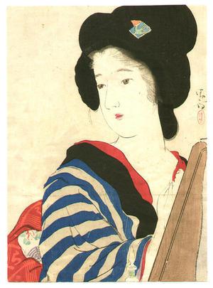 鏑木清方: Red Nail Polish - Japanese Art Open Database