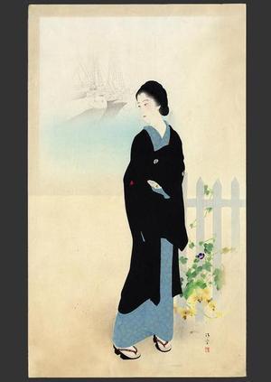 鏑木清方: Tsukiji Akashi-cho — 築地明石町 - Japanese Art Open Database