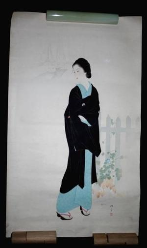 Kaburagi Kiyokata: Tsukiji Akashi-cho — 築地明石町 - Japanese Art Open Database
