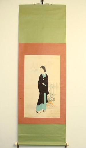 鏑木清方: Tsukiji Akashi-cho- scroll — 築地明石町 - Japanese Art Open Database