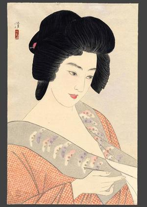 Kiyoshi Kobayakawa: The Geisha Ichimaru - Japanese Art Open Database