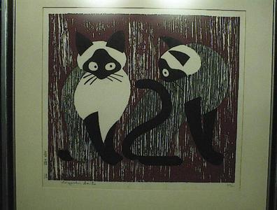 Kiyoshi Saito: Cats - Japanese Art Open Database