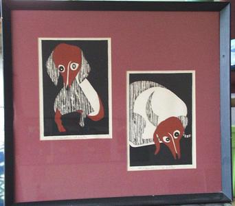 Kiyoshi Saito: Unknown, Daxhunt, dogs - Japanese Art Open Database