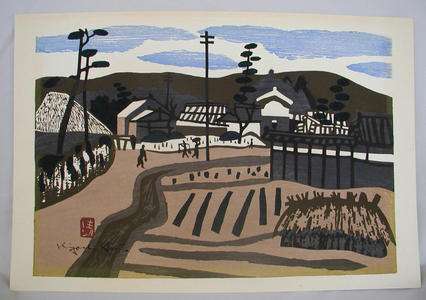 Kiyoshi Saito: Unknown, farming town - Japanese Art Open Database