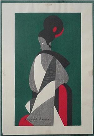 Kiyoshi Saito: Woman - Bunraku 1 - Japanese Art Open Database