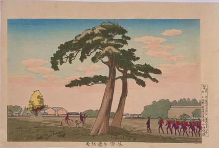 Kobayashi Kiyochika: Benkeibori Field at Sakurada — 桜田弁慶堀原 - Japanese Art Open Database