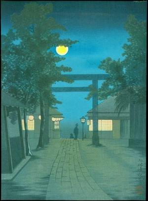 小林清親: Shrine Visit at Night - Japanese Art Open Database