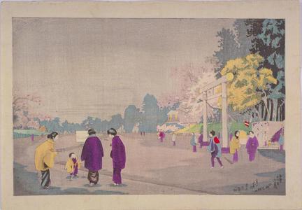 小林清親: A Painter Sketching at Ueno Park — 上野公園画家写生図 - Japanese Art Open Database