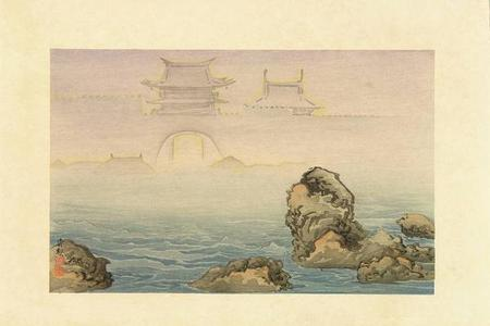小林清親: Noto Nanao Mirage — 能登七尾蜃気楼 - Japanese Art Open Database