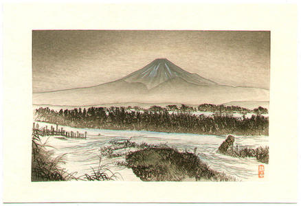 Tsukioka Kogyo: Mt Fuji in Winter - Japanese Art Open Database