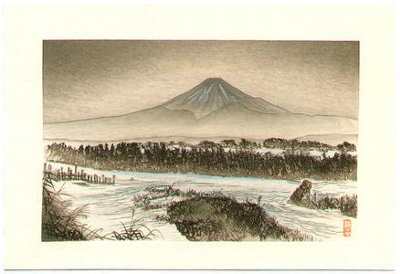 Tsukioka Kogyo: Mt Fuji in Winter - Japanese Art Open Database