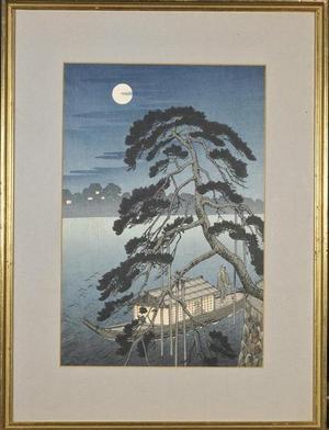 Koho: Unknown night boat scene - Japanese Art Open Database