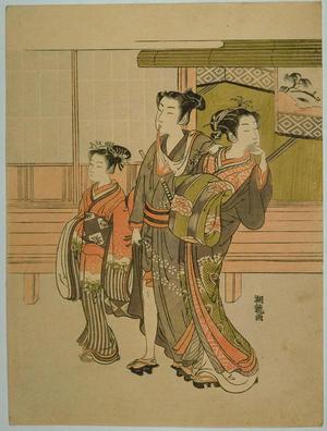 磯田湖龍齋: Customer of the Pleasure Quarters — 嫖客(見立雷庄九郎) - Japanese Art Open Database