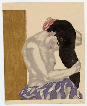 Onchi Koshiro: Washing her Hair - Japanese Art Open Database