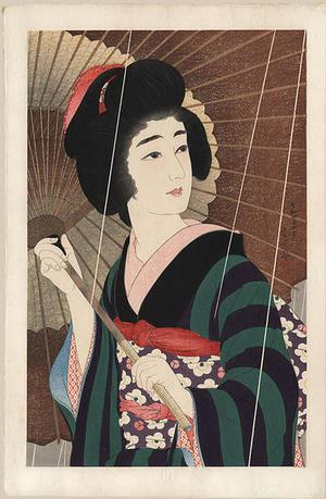 鳥居言人: Ame- Rain — 雨 - Japanese Art Open Database