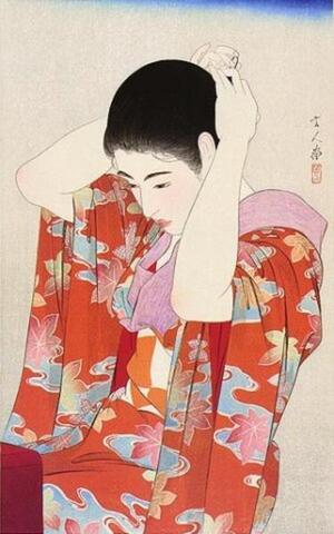鳥居言人: Autumn Leaves — 紅葉 - Japanese Art Open Database