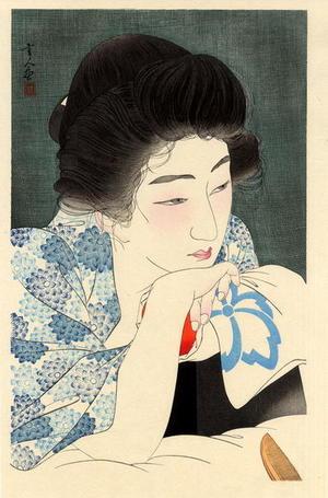 鳥居言人: Morning Hair - Asa Negami — 朝寝髪 - Japanese Art Open Database