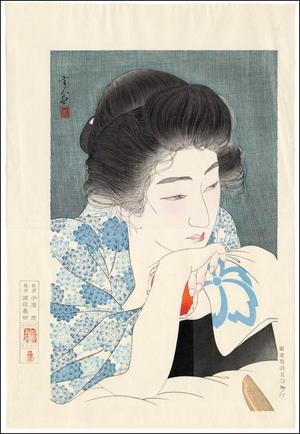 Torii Kotondo: Morning Hair - Asa Negami — 朝寝髪 - Japanese Art Open Database