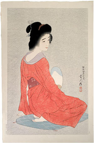 Torii Kotondo: Nagajuban- Long Undergarment- Variant 1 - Japanese Art Open Database