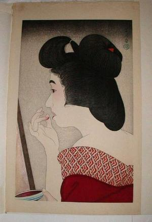 Torii Kotondo: Rouge- lipstick — Beni - Japanese Art Open Database