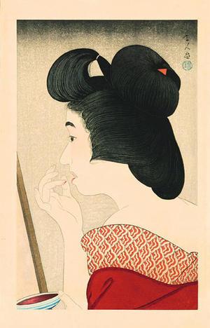 鳥居言人: Rouge- lipstick — Beni - Japanese Art Open Database