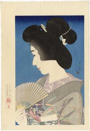 鳥居言人: Summer Geisha- Natsuko — 夏妓 - Japanese Art Open Database
