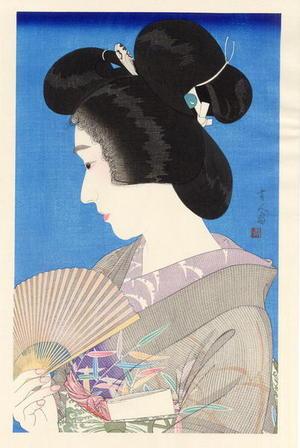 Torii Kotondo: Summer Geisha- Natsuko — 夏妓 - Japanese Art Open Database