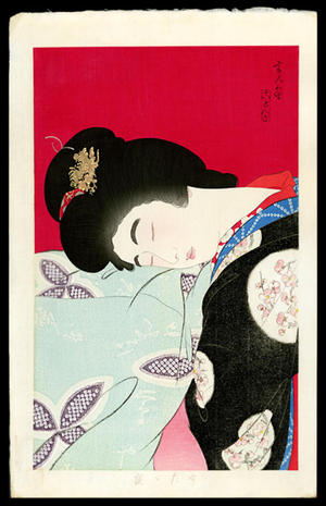 鳥居言人: Utatane- A nap- Version 2 — うたっ寝 - Japanese Art Open Database