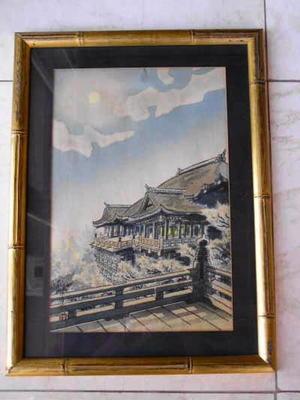 Kotozuka Eiichi: Full moon view at Kiyomize Temple - Japanese Art Open Database