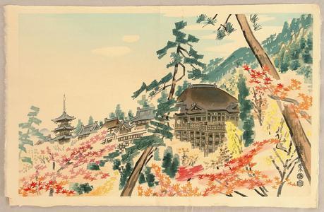 Kotozuka Eiichi: Kiyomizu Temple in Autumn - Japanese Art Open Database