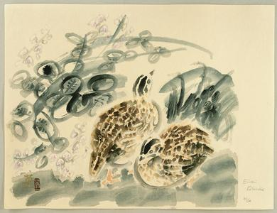 Kotozuka Eiichi: Quails and Bush Clover - Japanese Art Open Database