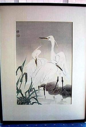 Kotozuka Eiichi: THREE SNOWY HERONS - Japanese Art Open Database