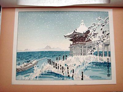 Kotozuka Eiichi: The Katata Ukimido Temple in the Lake Biwa — 堅田浮御堂 - Japanese Art Open Database