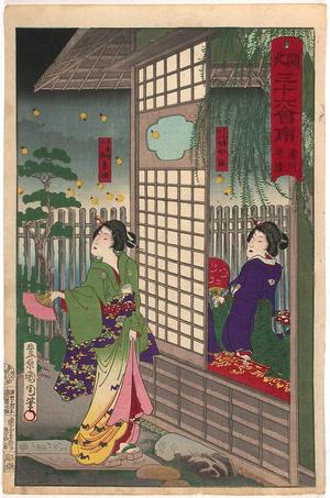 Toyohara Kunichika: The restaurant Hira-Sei in Fukagawa - Japanese Art Open Database