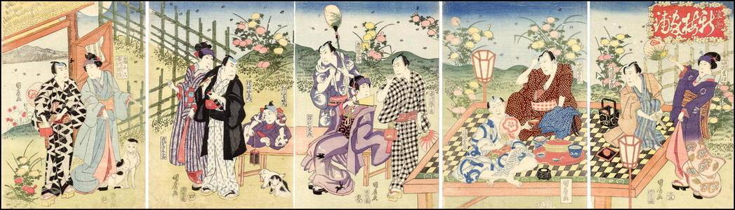 歌川国広: The Firefly Party - Japanese Art Open Database