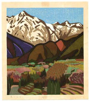 Mabuchi Toru: Mountains in Spring - Japanese Art Open Database