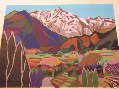 Mabuchi Toru: Mountains in Spring 2 - Japanese Art Open Database
