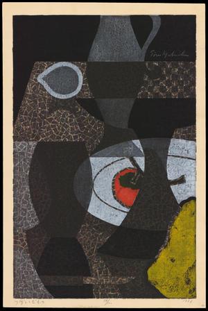 Mabuchi Toru: Vase And Fruit — ぼとくだもの - Japanese Art Open Database