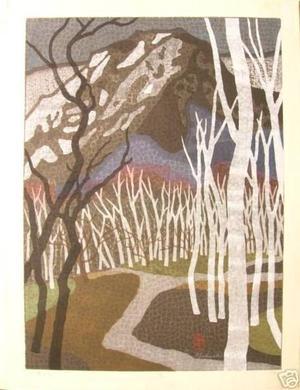 Mabuchi Toru: White Birch- Yoko - Japanese Art Open Database