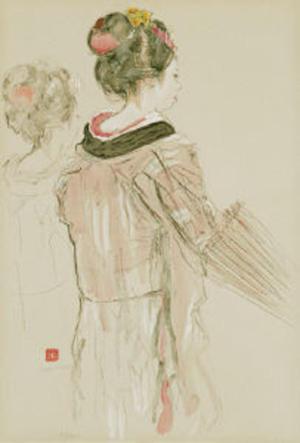Miyamoto Saburo: Ame Moyoi — 雨もよい - Japanese Art Open Database