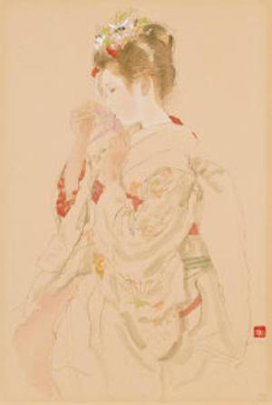 Miyamoto Saburo: Folded paper crane — 折り鶴 - Japanese Art Open Database