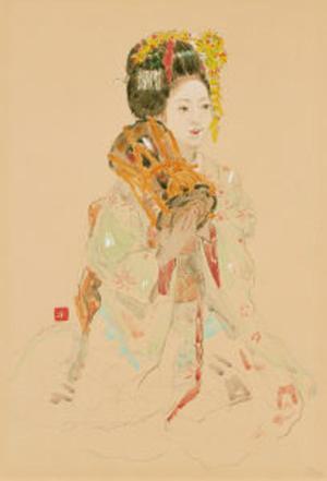 Miyamoto Saburo: Hand drum - Japanese Art Open Database