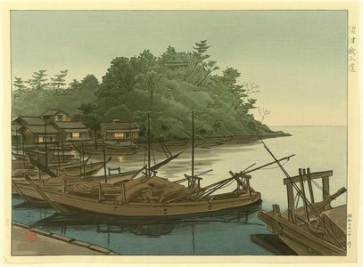 Mori Masamoto: Ganyudo Ferry - Japanese Art Open Database